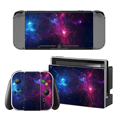 Decal Moments Nintendo Switch Console Vinyl Skin Sticker für Nintendo Switch Dock Joy Con Skin Purple Galaxy Galaxy Skin