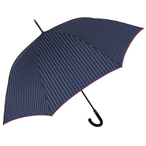 Paraguas Clasico Golf Azul Hombre Largo Rayas Blancas