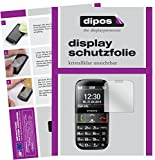 dipos I 2X Schutzfolie klar passend für Emporia Euphoria V50 Folie Displayschutzfolie