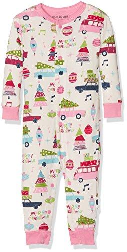 Hatley Union Suits Barboteuse, Ecru (Pink Retro Festive 101), 6-12 Mois Mixte bébé