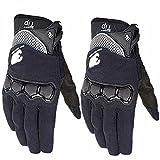 Military Gummi Hard Knuckle Outdoor Handschuhe für Männer Fit für Radfahren Motorrad Wandern Camping Powersports Airsoft Paintball (Farbe : Schwarz, Größe : L)