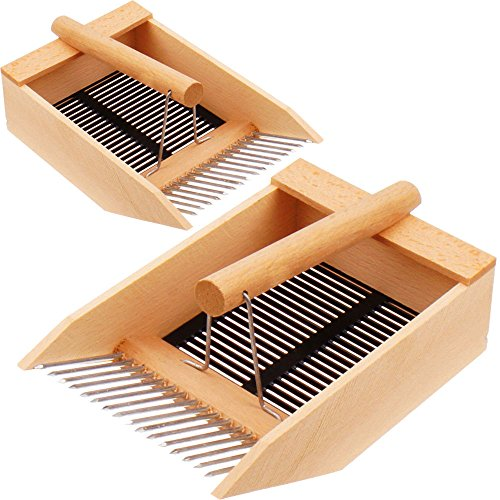 2x peigne cueille myrtilles de proheim - Peigne à myrtilles en métal et bois de hêtre massif
