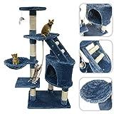 Albero per gatto con tiragraffi grigio- Tiragraffi in sisal naturale