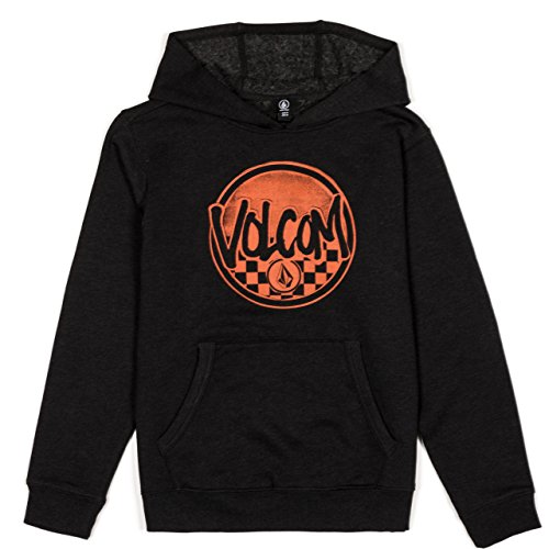 Volcom Checker Pullover Fleece Kids Hood Black L