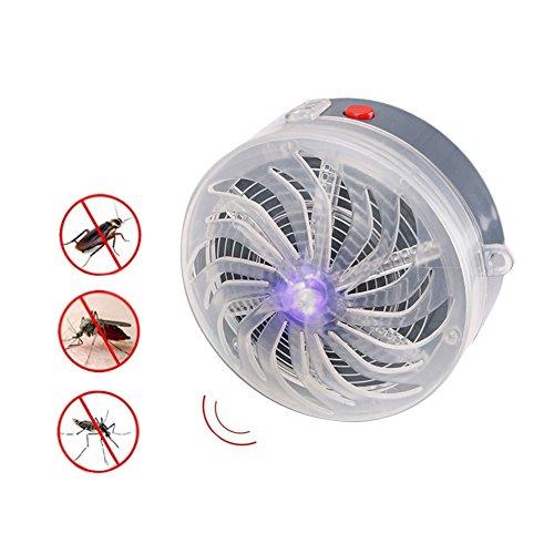 WSSZZ319 Solar Schädlingsbekämpfer Powered Mosquito Mörder Licht Lampe Buzz UV Lampe Licht Fliegen Insekt Bug Moskito Töten Zapper Mörder Indoor Outdoor (3 Stücke)