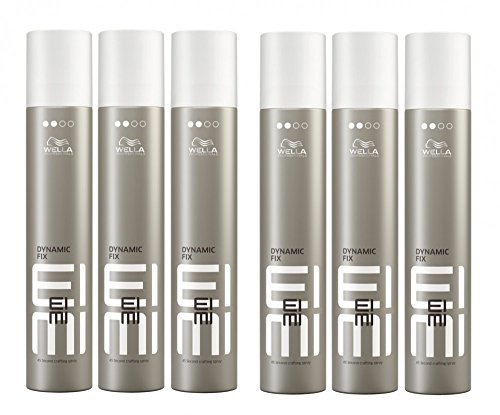 Wella EIMI Dynamic Fix 45 Sec. Haarspray 6 x 300 ml Styling Fixing Hairspray Modeling Spray Professionals by Wella