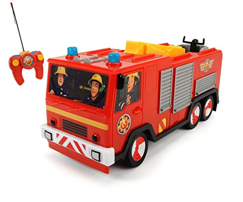 feuerwehrmann sam ferngesteuert Dickie Toys 203099612 - RC Feuerwehrmann Sam Jupiter, funkferngesteuertes Feuerwehrauto, 22 cm