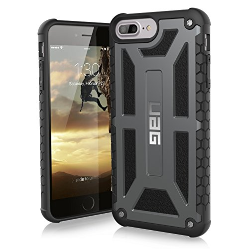 UAG iPhone 7 Plus/iPhone 6s Plus [5.5-inch screen] Monarch Feather-Light Rugged [GRAPHITE] Military Drop Tested iPhone Case