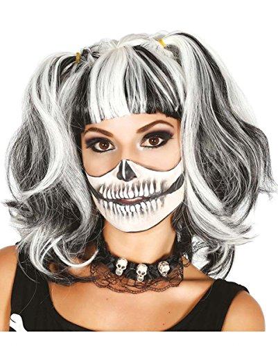 Los Kostüme Make Up Muertos Dia De (Damenperücke mit Zöpfen für)