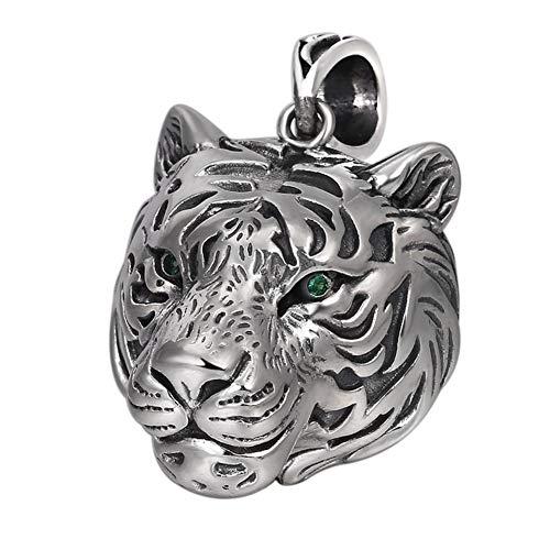 ORKST 925 Sterling Silber Tiger Anhänger Silber Halskette Für Männer und Frauen Schmuck,65cm