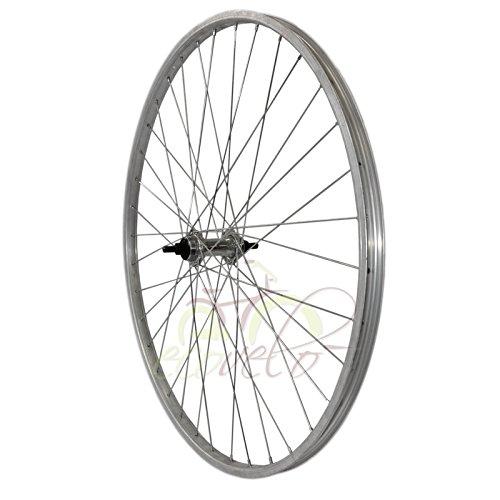Cerchio ruota bici bicicletta mtb mountain city bike mozzo con raggio 26x1 3/8 anteriore