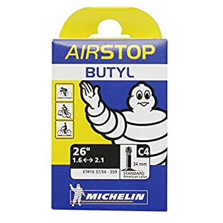Michelin Airstop Butyl AV Tube - Black, 35 mm