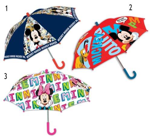 1 Stück Disney Regenschirm Mickey Mouse Minnie Mouse Kinder Schirm (Auswahl per Email mitteilen)