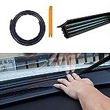 Velidy 1.6m Soundproof antipolvere U tipo gomma bordi di tenuta striscia per auto parabrezza cruscotto auto isolamento acustico