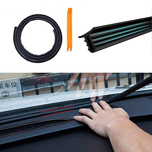 Velidy - 1,6m Schalldämmung für Auto-Armaturenbrett, staubdicht, U-Typ, Gummikanten, Dichtungsstreifen, Geräuschdämmung