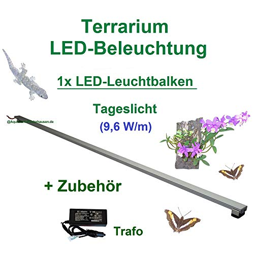Aquarium-Plüderhausen Terrarium LED-Beleuchtung 120 cm,LED Leuchtbalken,LED Pflanzenlicht,TerraLicht