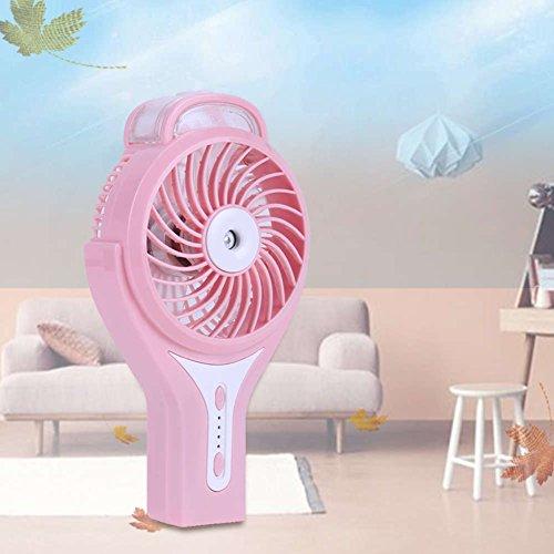 Mini tragbare tragbare Nebel Fan, TechCode multifunktionale funktionale persönlichen Lüfter, 2 in 1 wiederaufladbare USB Mini Lüfter und Schönheit humidifie (Rosa)