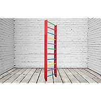 Barras de pared de madera para interiores-0-220 Escalera sueca para gimnasia (rosa)