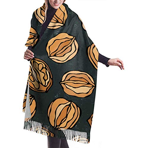 Bufanda invierno mujer Cachemira Feel Tablero negro