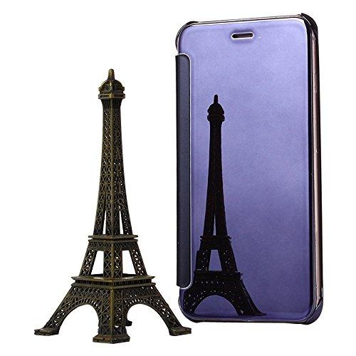 Wkae Case Cover Galvanik Spiegel Horizontal Flip PC + Leder-Schutzhülle für das iPhone 6 & 6s ( SKU : S-IP6G-0904S ) S-IP6G-0904P
