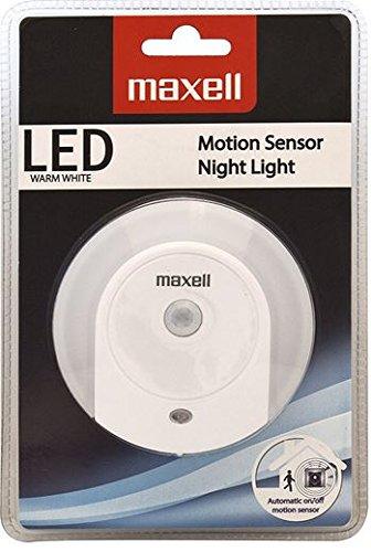 Maxell - Luz nocturna con sensor de movimiento y crepúsculo
