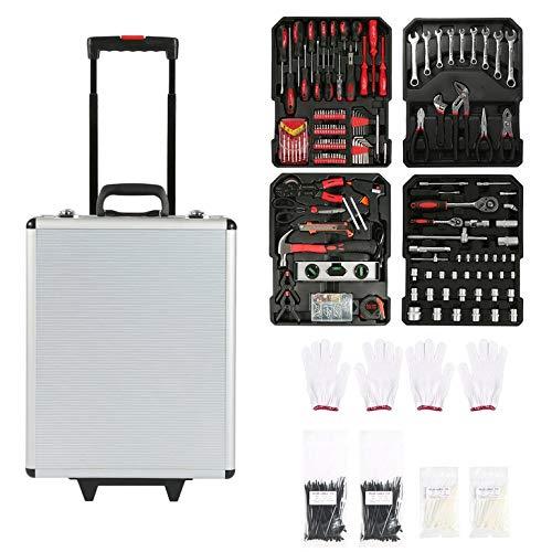 CremeBruluee 687 PCS Werkzeugwagen Set mit Trage Box Garage Mobil Werkstatt Toolbox Startseite