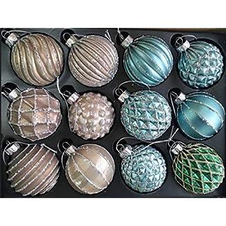 My-goodbuy24-12er-Set-Luxus-Weihnachtskugeln-Echtglas-Glaskugeln-Weihnachten-weihnachtsdeko-Christbaumkugeln-Set-J-8-cm-braun-trkis