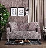 TSSCY Sofa Überwurf Anti-rutsch Couch-Decken Stretch hussen Sofa wirft Stuhl beschützer Möbel Sessel Loveseat Sofa wirft -Silber 2 Sitzer