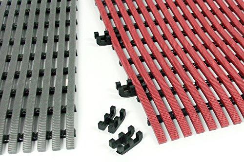 Trend Products Stuttgart TP Nassraumbodenrost Kupplungen, zum Verbinden einzelner Bahnen in Loser Verlegung, Farbe: Schwarz, Verpackungseinheit: 10 STK. (ausreichend für bis zu 3 m)