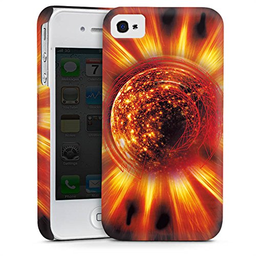 Apple iPhone 4 Housse Étui Silicone Coque Protection Soleil Soleil Feu Cas Premium mat