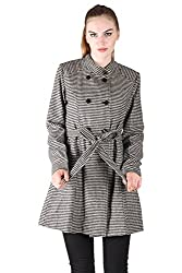 Owncraft Black White Houndstooth Peacoat