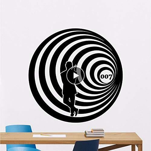 Agent 007 Poster Vinyl Aufkleber Movie Decor Art Kinder Jungen Wanddekoration Vinyl Aufkleber Für Wand 0169 ()