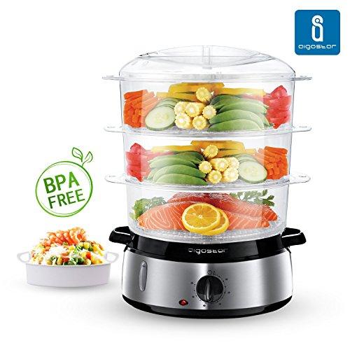Aigostar-FitFoofie-Steel-30INA-Vaporera-para-cocina-al-vapor-Libre-de-BPA-Con-temporizador-y-base-en-acero-inoxidable-800-watios-Calidad-garantizada-por-Aigostar
