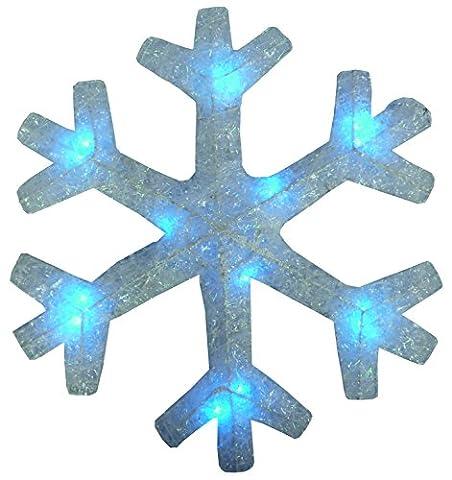 40CM weiße Schneeflocke mit blauer LED-Lichterkette