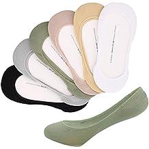 Yolev Calcetines Invisibles para Mujer Super Corto de 6 Pares(Un tamaño adapdado a 35-40)