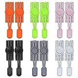 Th-some 12 PCS (6 Pares) Cordones Elásticos para Zapatillas Cordones de Zapatos Reflectante para Niños y Adultos, Zapatos Deportivos, Zapatos de Mesa, Botas de Senderismo, Zapatos Casuales JAANY