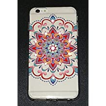 Stylish Design (Mandala Series) Protective Slim Encrusted Swarovski Crystals Case for Apple iPhone 6 Plus 6+ and 6S Plus 6S+