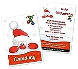 Weihnachtsfeier Einladungen Karten Weihnachtsmarkt Party Erwachsene mit Spruch - mit Ihrem Wunschtext - 20 Stück, Größe DIN A5