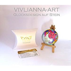 Orig. VIVLIANNA-ART Glücksstein 'SONNENSTEIN' Size BIG ONE