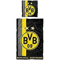 Borussia Dortmund BVB-Bettwäsche mit Streifenmuster (135 x 200 cm) one Size