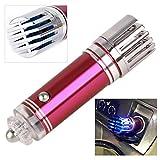 beler Rose Rot 12V Universal Auto Luftreiniger Leistungsstarker Ionisator Lufterfrischer Sauerstoff Bar