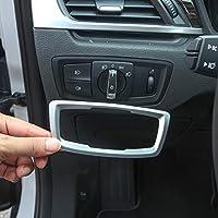 YIWANG ABS cubierta de botón para interruptor de faro delantero, cromado, para X1 F48 2016 – 2019, para X2 F47 2018 2019 Auto accesorios
