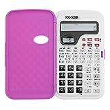 BROADROOT Calculadora Científica 2 Líneas Muestran Calculadora multifuncional básica Calculadora portátil 5.12x2.83inch (Oro rosa)