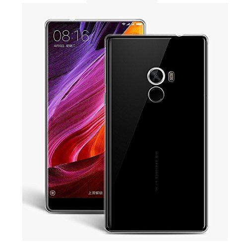 Custodia per Xiaomi Mi Mix, Leathlux Trasparente Morbido TPU Custodie Protettivo Bumper Chiaro Flessibile Silicone Gel Ultra Sottile Cover per Xiaomi Mi Mix