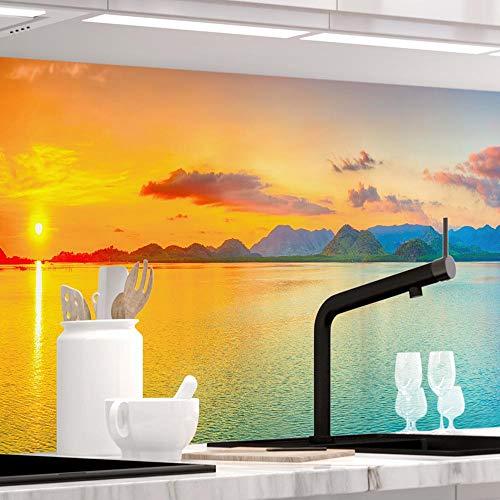 StickerProfis Küchenrückwand selbstklebend - Sundowner - 1.5mm, Versteift, alle Untergründe, Hart PVC, Premium 60 x 280cm