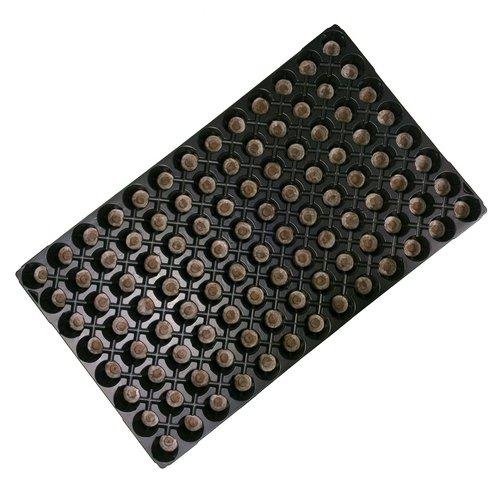 Plaque / Plateau à semis avec Pastilles de Jiffy 7 - 104 Alvéoles (53x31cm)