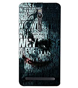 PrintDhaba QUOTE D-6983 Back Case Cover for ASUS ZENFONE 2 (Multi-Coloured)