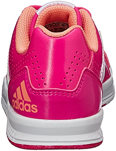 adidas LK Trainer 7, Chaussures de Course Mixte Enfant, Mehrfarbig Rose - Pink (Shock Pink S16/Ftwr White/Sun Glow S16)