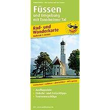 Füssen und Umgebung: Rad- und Wanderkarte mit Ausflugszielen, Einkehr- & Freizeittipps, Nebenkarten Lechstausee und Tannheimer Tal, wetterfest, ... 1:50000 (Rad- und Wanderkarte / RuWK)