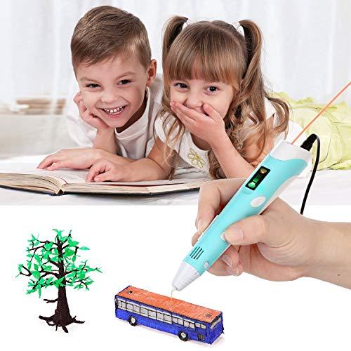 OBEST NIU 3D Drucker Stift,3D Pen 40-100℃ 3D Stift 3D Niedrige temperatur Stereoscopic Printing Pen Set mit LCD Bildschirm,5M 1.75mm PCL Filament,Intelligente Temperaturregelung USB Adapter für Kinder Drawing Freihand 3D Zeichnungen - 8